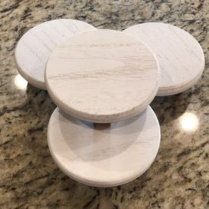 NWT-Target Set of 4 Mini White Wood Risers